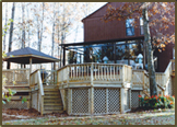 Pressure Treated Deck with Spa and Gazebo in Chesterfield County