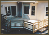 Pressure Treated Deck with Custom Guardrail.