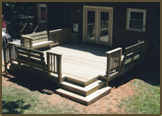 Pressure Treated Deck in Goochland County.