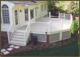 Natural Granite Deck with Aluminum Rails in River Lake Colony
