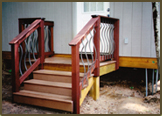 Composite Deck with Ipe and Deckorator Ballister Railing in Rockville.