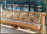Chelsea Bench in Bexley West Subdivision.Check out the precision carpentry!